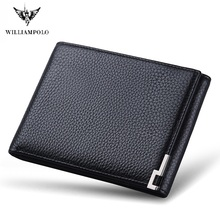 WilliamPolo Men Wallet mens slim Credit