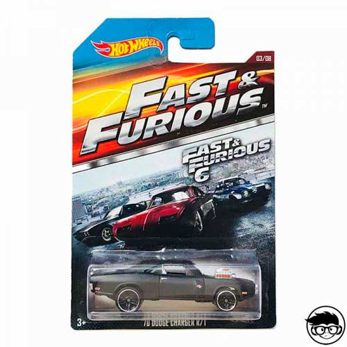 Hot Wheels Fast & Furious '70 Dodge Charger R/T 2015 Long Card