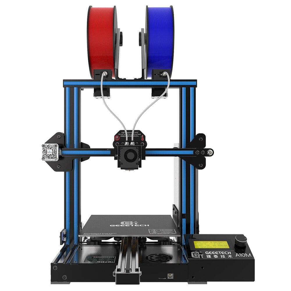 Geeetech 3d принтер новый A10M 2 в 1 Mixcolor функция автоматического выравнивания 220*220*260 3 мм алюминиевый датчик накаливания CE FDM