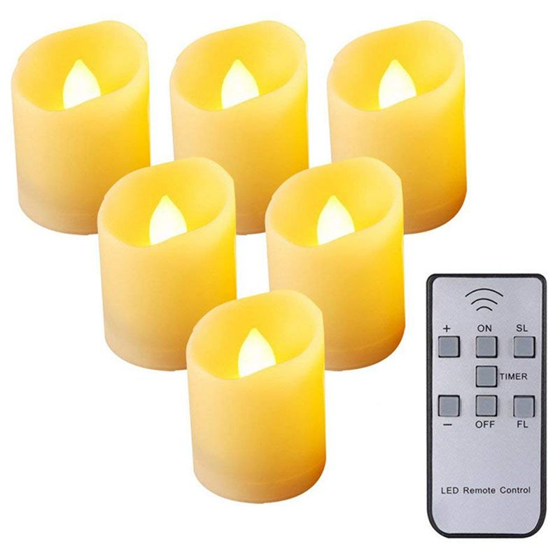Promotion! Flameless Candles,Remote Control LED Flickering Candles Battery Operated Dancing Flame Tealight With Timer Function,
