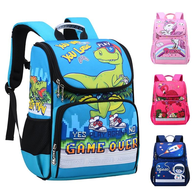 Animal Printing School Bags Children Unicorn Backpacks For Girls Boys 3D Dinosaur Bag Kindergarten Kids Flamingo School Backpack