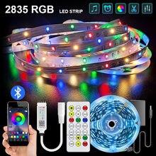Светодиодный полосы света Luces светодиодный RGB 2835 SMD RGBWW 5 м 10 м 15 м гибкая Водонепроницаемый светодиодный лента диод дистанционного Управлени...