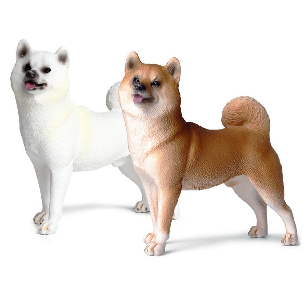 Cute Simulation Shiba Inu Dog Plastic Animal Model Figurine Home Decor Kids Toy Zoo Animals Educational Figurines Toys Gift Kids