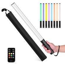 RGB Handheld LED Light Wand akumulator oświetlenie fotograficzne Stick 10 tryby oświetlenia 12 poziomy jasności 1000 lumenów 3200-5600K
