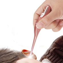 Dzieci Earpick usuwanie woskowiny do czyszczenia uszu LED Light Earpick oświetlenie dla dzieci łopatka do uszu czyszczenie uszu Ear Curette usuń wosku z uszu tanie tanio XceeFit CN (pochodzenie) one piece Ear cleaner Remove ear wax Baby wax spoon Ear cleaning Earwax remover Ear cleaner earpick