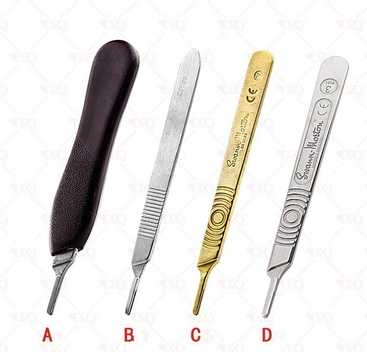No.3 Scalpel Handle Fits Blade Stainless Steel Surgical Hilt / Plastic Surgical Hilt Engraving Hand Tools Surgical Blade