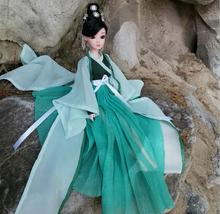 Chinese Traditional Princess Doll For Girls Authentic Simulation Dolls Girls Beautiful BJD Collectible Toy With Dress 30CM ZL128 32cm traditional chinese queen dolls pretty girl bjd dolls movies