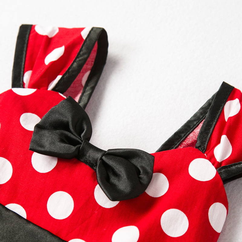 Girls Dress For Baby Kids Cosplay Party Dress Up 1-5 Years Toddler Children Polka Dots Birthday Princess Costume 5