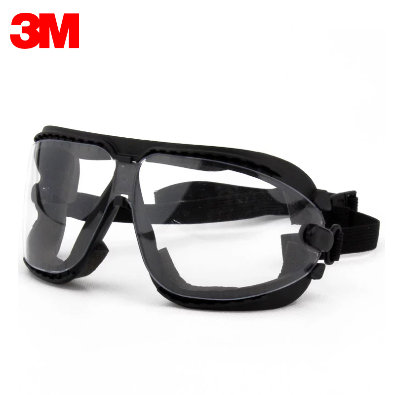 3M 16618 Goggles Dust-proof Wind-sand Riding Anti-impact Anti-spatter Spray Painting Polishing Safety Protective Glasses