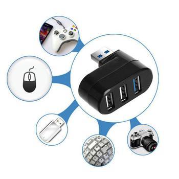 2020 New rotating USB 2.0 Hub Splitter Portable Mini Rotatable Extension C5E8