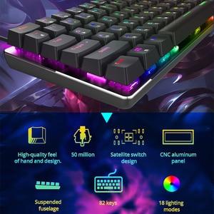 Image 3 - Ajazz ak33 teclado de jogo mecânico com fio russo/inglês layout rgb/1 cor backlight 82 chave conflito livre