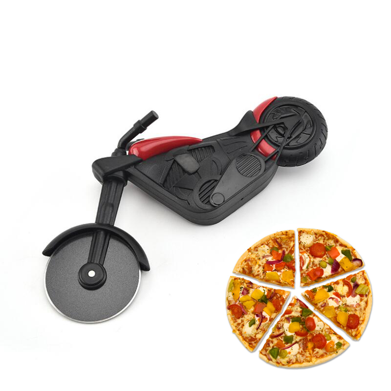 Stainless Steel Motorcycle Cutter Pizza Knife Cake Tools Pizza Wheels Scissors Ideal for Pizza, Pies, Waffles Kitchen Accessory