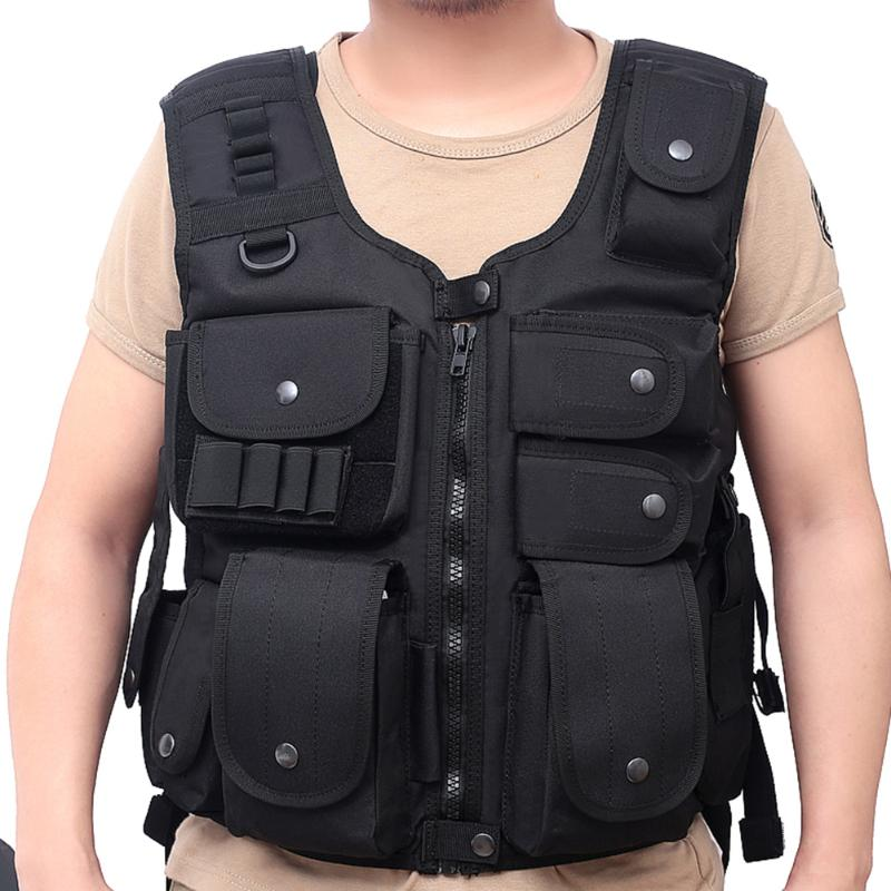 Molle Vest Multi pocket Detachable Vest Protection Platesfor Outdoor Camping Outdoor ClothingHiking Hunting|Hunting Vests| |  - title=