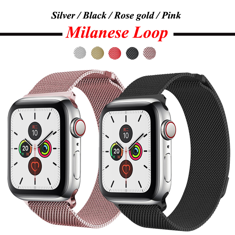 Milanese Loop Strap For Apple Watch Band 5 4 3 44mm 40mm Iwatch 5 Band 42mm 38mm Stainless Steel Link Bracelet Watch Accessories