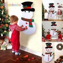 DIY войлочный Рождественский Снеговик или дерево детские игрушки для детей собственные рождественские украшения Дерево год любимый подарок детский сад ремесло