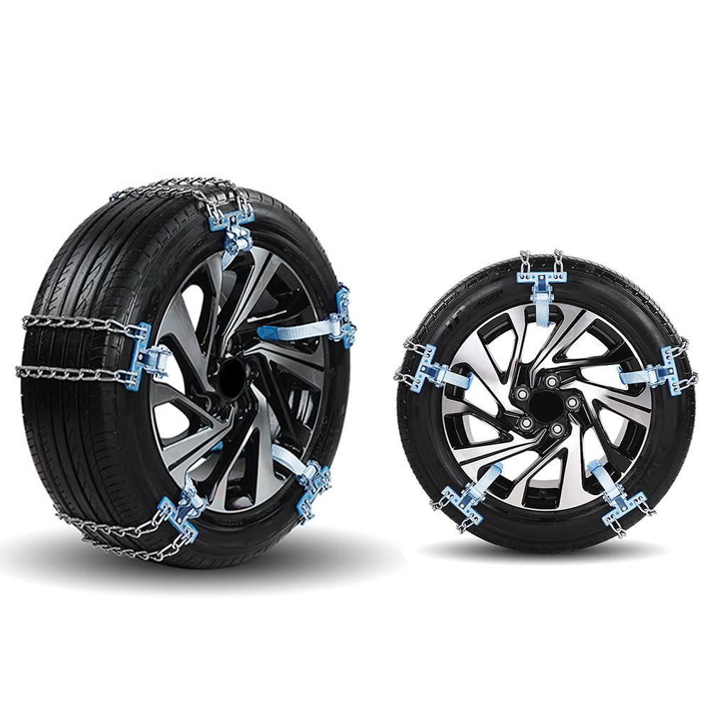 Универсальная автомобильная цепь для снега, зимние шины, колеса, регулируемые, противоскользящие, безопасность, двойная оснастка, противоскользящие, колесные цепи, автокросс, зимние автозапчасти