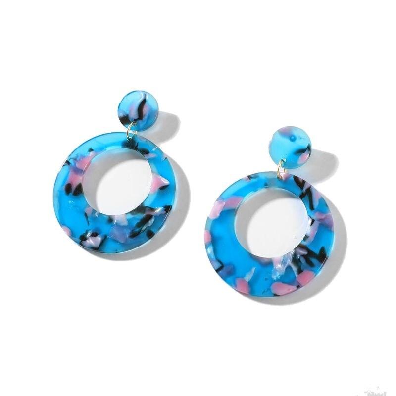 Tortoise Shell Leopard Acrylic Acetic Acid Round Drop Earrings for Women Jewelry H8WF in Stud Earrings from Jewelry Accessories