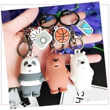 Cartoon We Bare Bearskey chain  Cute Three Animal Bears Doll