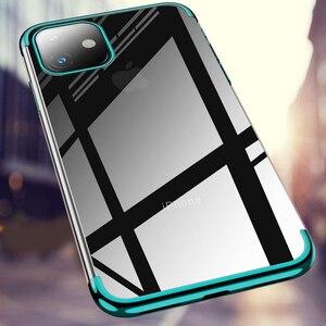 Image 3 - 전기 도금 케이스 iPhone 11 Pro 7 8 6 6s s Plus 12 iPhone X XR XS Max 쉘용 투명 소프트 실리콘 도금 커버