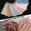1 сумка Holographics ногтей блестящие хлопья Сияющие Блестки для ногтей 3D сделай сам украшения для ногтей