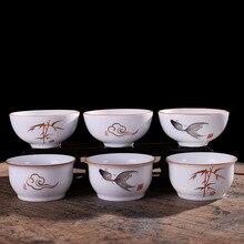 Креативная керамическая дегустационная чайная чашка Матовая Белая китайская чайная чашка 60 мл Samll чайная чаша винная чашка