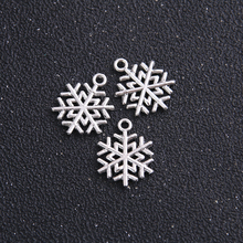 Snowflake Charms Christmas-Supplies Jewelry Making Antique Color for 20pcs/Lot 15--20mm