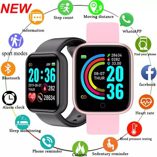 Y68 Smart Watch Men Wristwatches Smartwatch Electronic Clock Fitness Monitor Men Gift Reloj inteligente for Huawei Relogio SB001 1