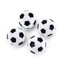 4 шт. игрушки для настольного футбола, креативные подарки, мяч, белый, черный, пластиковый футбольный мини-мяч, футбольный круглый, для игр в помещении, части машины