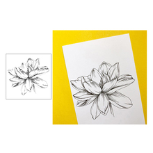Jcarter Clear Stamps Rubber Transparent Sketch Flower Silicone Scrapbooking for Card Making Craft Decor New Stamp 2019