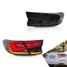 Luces LED traseras para Honda Accord 10 2018-UP, ahumadas con dinamo con intermitente trasero DRL, accesorios de luces para coche