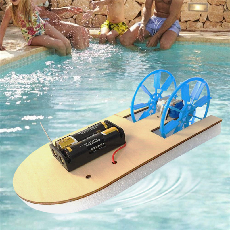 Electric boat science education toy DIY Electronic Assembly Boat Model Toy Scientific Experiment Toy For Kids Gifts #4J09 (8)