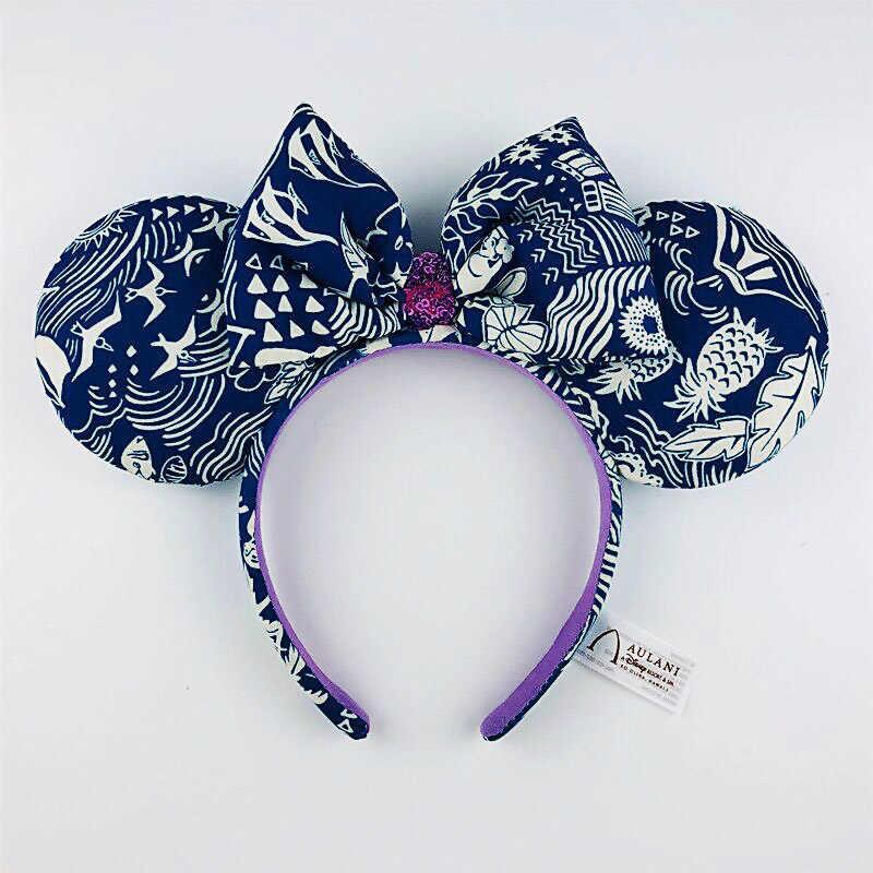 Disney 3D Minnie Mickey kulaklar Disneyland saç çember güzellik ve Beast kafa bandı parti şapkalar kız oyuncaklar doğum günü partisi dekorasyon