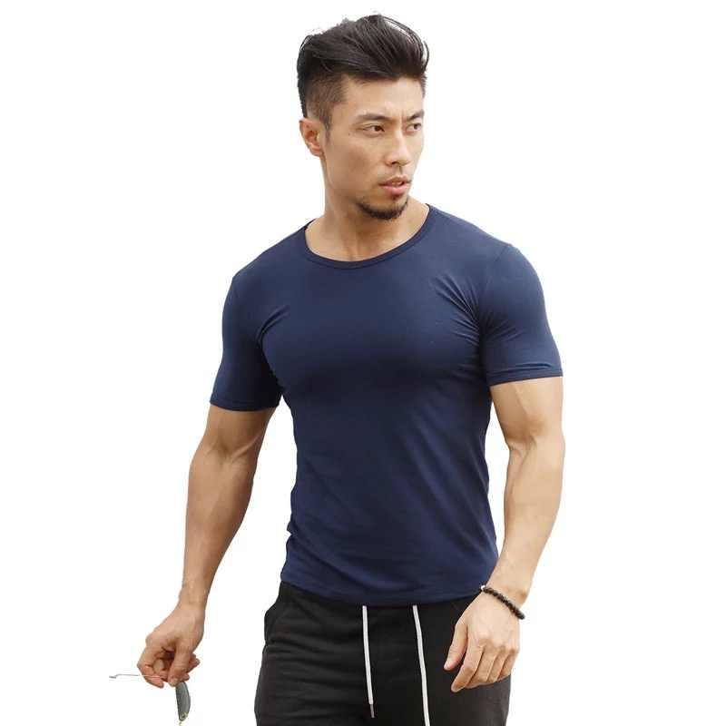 JS980J-Workout fitness männer kurzarm t hemd männer thermische muscle bodybuilding tragen kompression Elastische Dünne übung kleidung