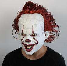 Joker Pennywise Mask Stephen King It Chapter Two 2 Horror Cosplay Latex Masks Helmet Clown Halloween Party Costume Prop 2019
