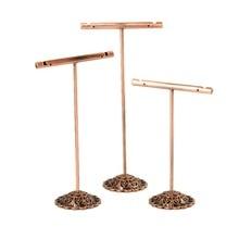 5 Sets T Bar Iron Earrings Displays Stand Rack Dangle Hoop Earring Holder Jewelry Showcase Wholesale Red Copper Black