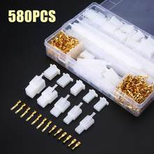 580pcs 2.8mm 2/3/4/6/9 Pin Motorcycle Automotive Electrical Wire Terminal Male Female Cable Connector Plug Kits Disassembly Tool(China)