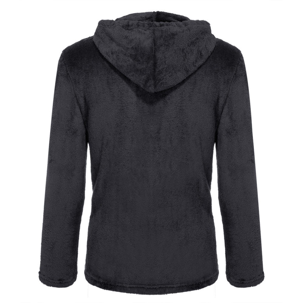 H208693d4e30e41f8a28cb86ab3fe28b6k Jacket Men's Sweater Warm Hooded Sweater Coat Jacket Men's Autumn Winter Casual Loose Double-Sided Plush Men's Sweater Coat Top