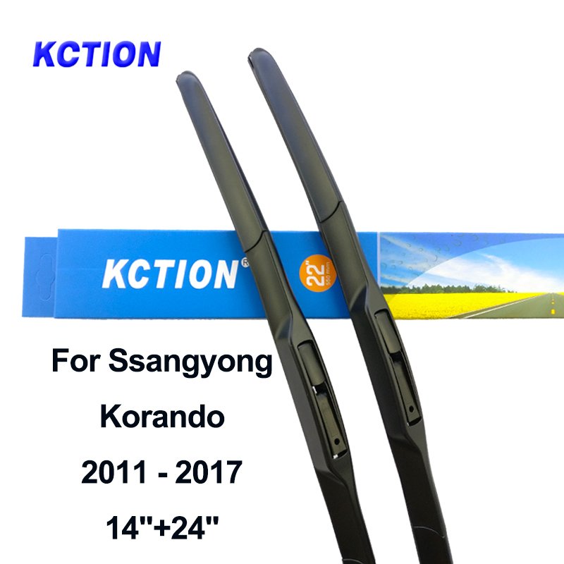 Windshield hybrid wiper blade windscreen rear wiper car accessories for Ssangyong Korando 2011 2012 2013 2014 2015 2016 2017 image