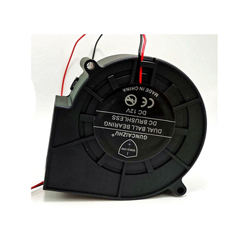 4200rpm 12W DC12V 1A Double ball bearing 9733 big volume: 9.7cm Centrifugal turbine air blower Cooling fan image