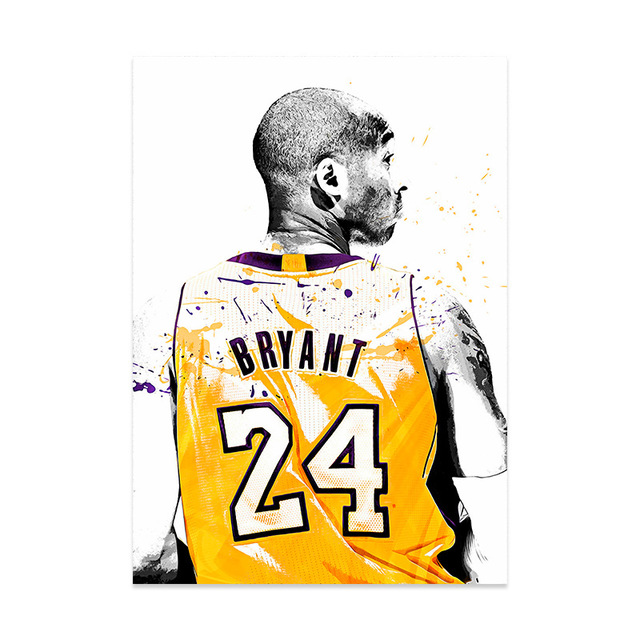 basketball star kobe bryant leinwand ol malerei stern klassische slam dunk poster wand kunst bilder fur wohnzimmer wohnkultur