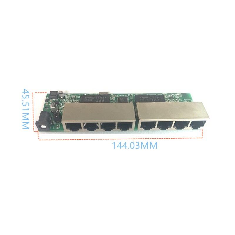 Reverse power Buck poe switch POE IN/OUT 5V12V24V48V 100mbps 802.3AT/AF 45+78- DC5V~48V long distance series Force POE48V12V24V 5