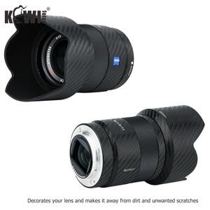 Image 2 - Lentille anti rayures et couvercle de pare soleil Film en Fiber de carbone pour Sony FE 55mm F1.8 ZA SEL55F18Z lentille et peau de ALC SH131 3M autocollant
