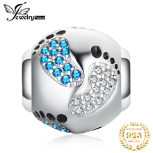 JewelryPalace Footprint 925 Sterling Silver Bead Charms Original For Bracelet original Jewelry Making