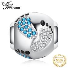 JewelryPalace след шарика стерлингового серебра 925 подвески оригинальный для оригинальный браслет изготовления ювелирных изделий