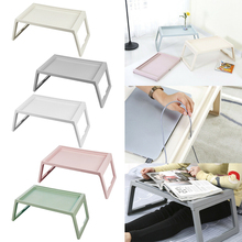 Portable laptop desk, folding bed tray stand breakfast table home dorm room