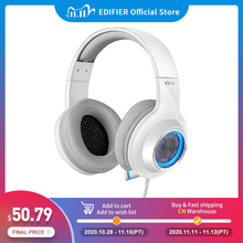 EDIFIER G4 Gaming headset Built in 7.1 Virtual Surround Soundcard and retractable microphone LED and Metal Mesh Design headphone