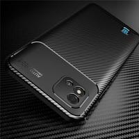 Realmi-funda trasera de fibra de carbono para móvil, carcasa de silicona suave a prueba de golpes, con textura, para Realme C11 2021, Realme C11 2021, 2021
