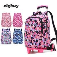Removable Women Travel Bags Waterproof For Girls Trolley Backpack Kids Wheeled Bag Bookbag Travel Luggage On Wheels Mochilas