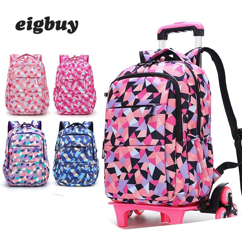 Sacs de voyage amovibles pour femmes imperméables pour filles sac à dos Trolley enfants sac à roulettes sac de voyage bagages sur roues Mochilas