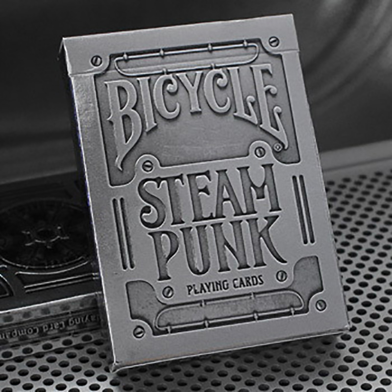 1 Deck Bicycle Cards Silver Steampunk T11 Bicycle Playing Cards Regular Bicycle Deck Rider Back Card Magic Trick Magic Props